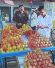 Pomegranates In the Morning