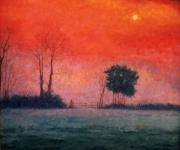 Red Sun at Night
