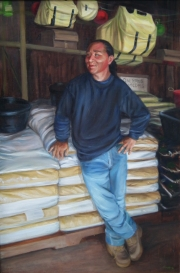 Kapena Works at the Feed Store